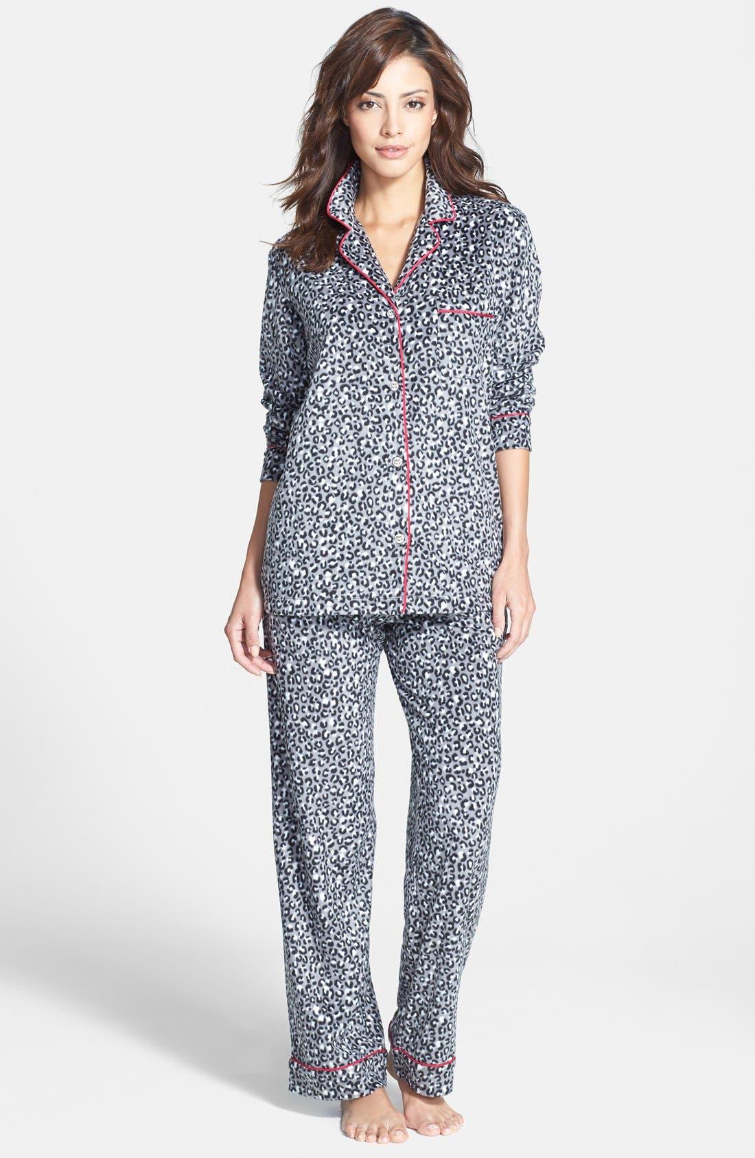 ,                             Long Sleeve Microfleece Pajamas,                             Main thumbnail 16, color,                             039