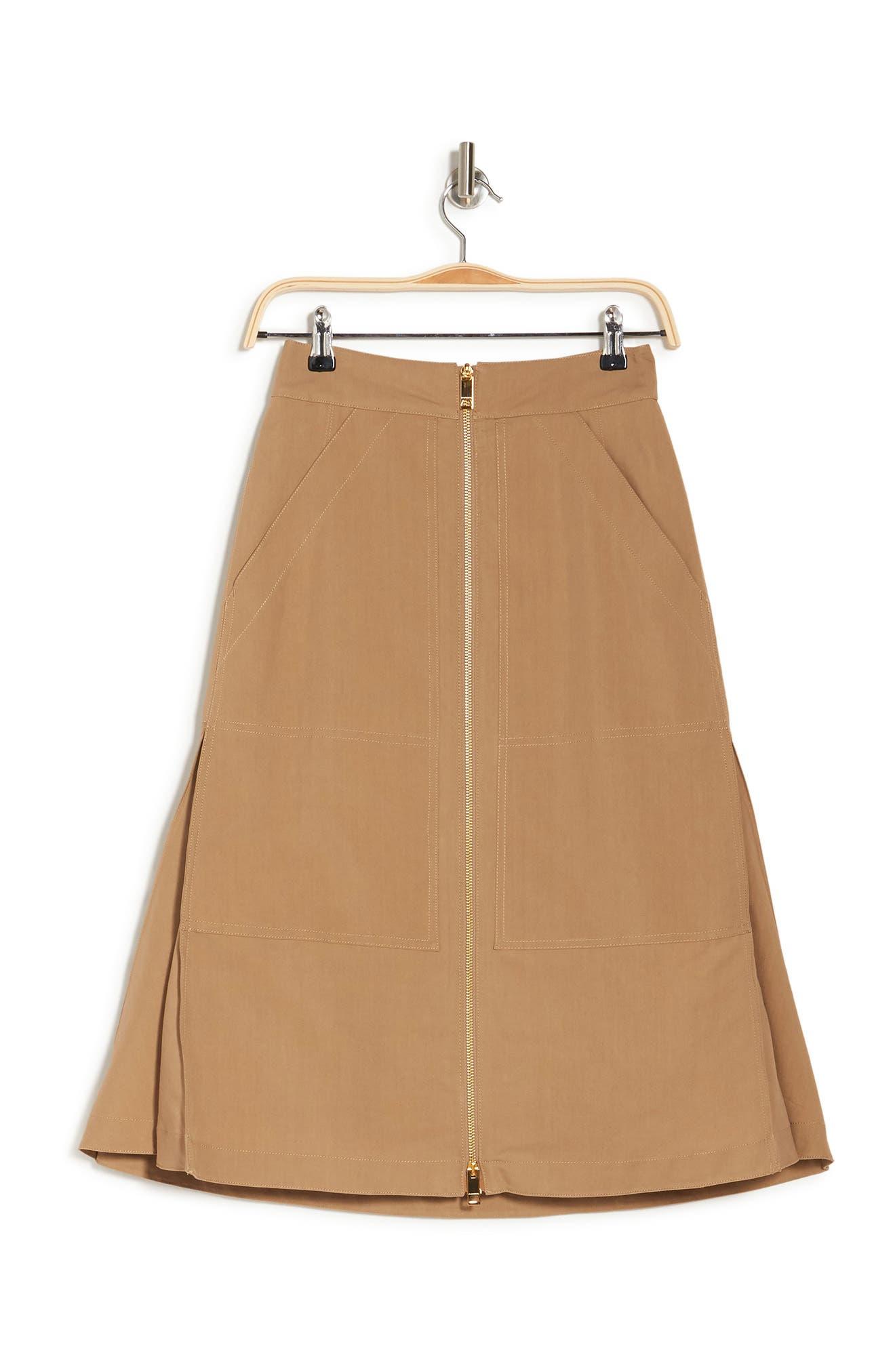 Image of Burberry Front Zip Skirt