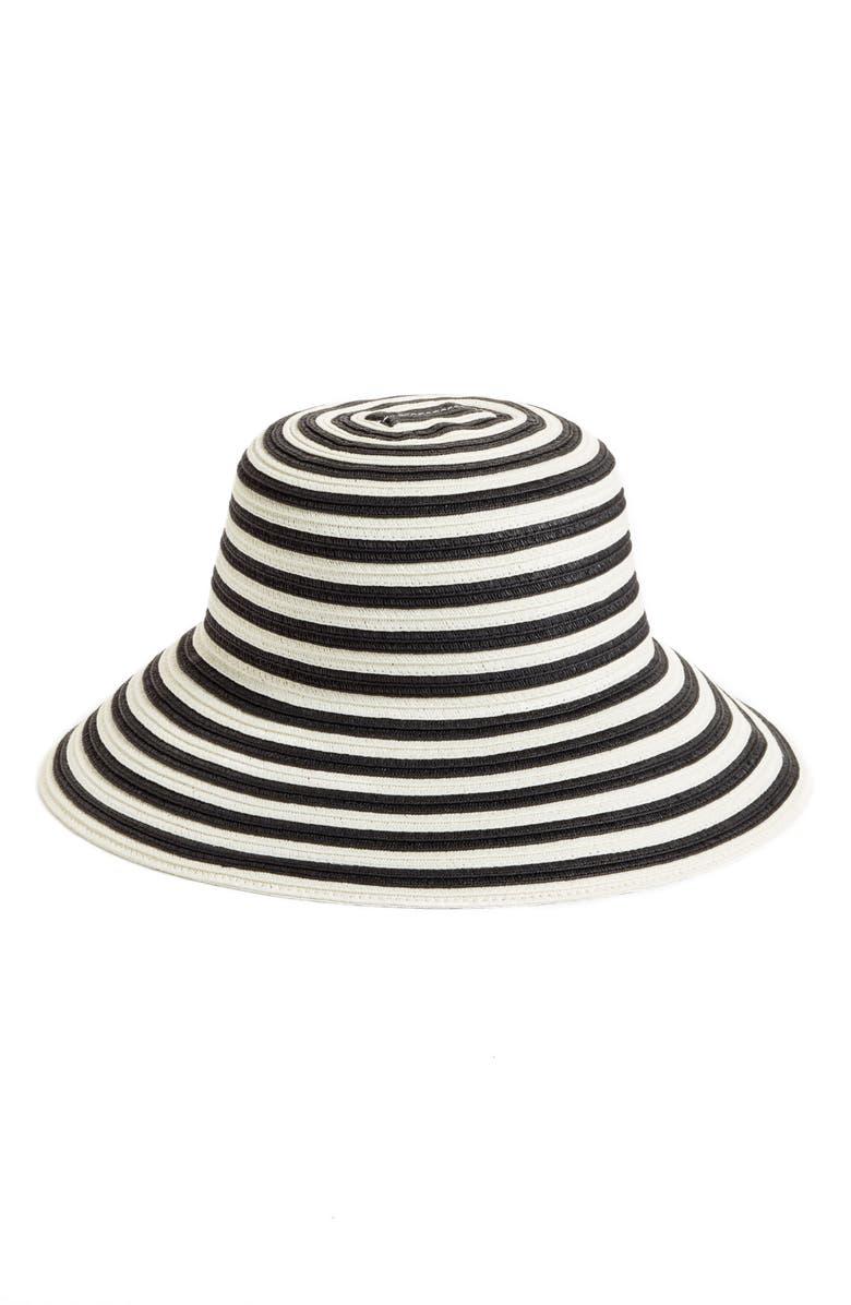 CASLON<SUP>®</SUP> Stripe Sun Hat, Main, color, 001