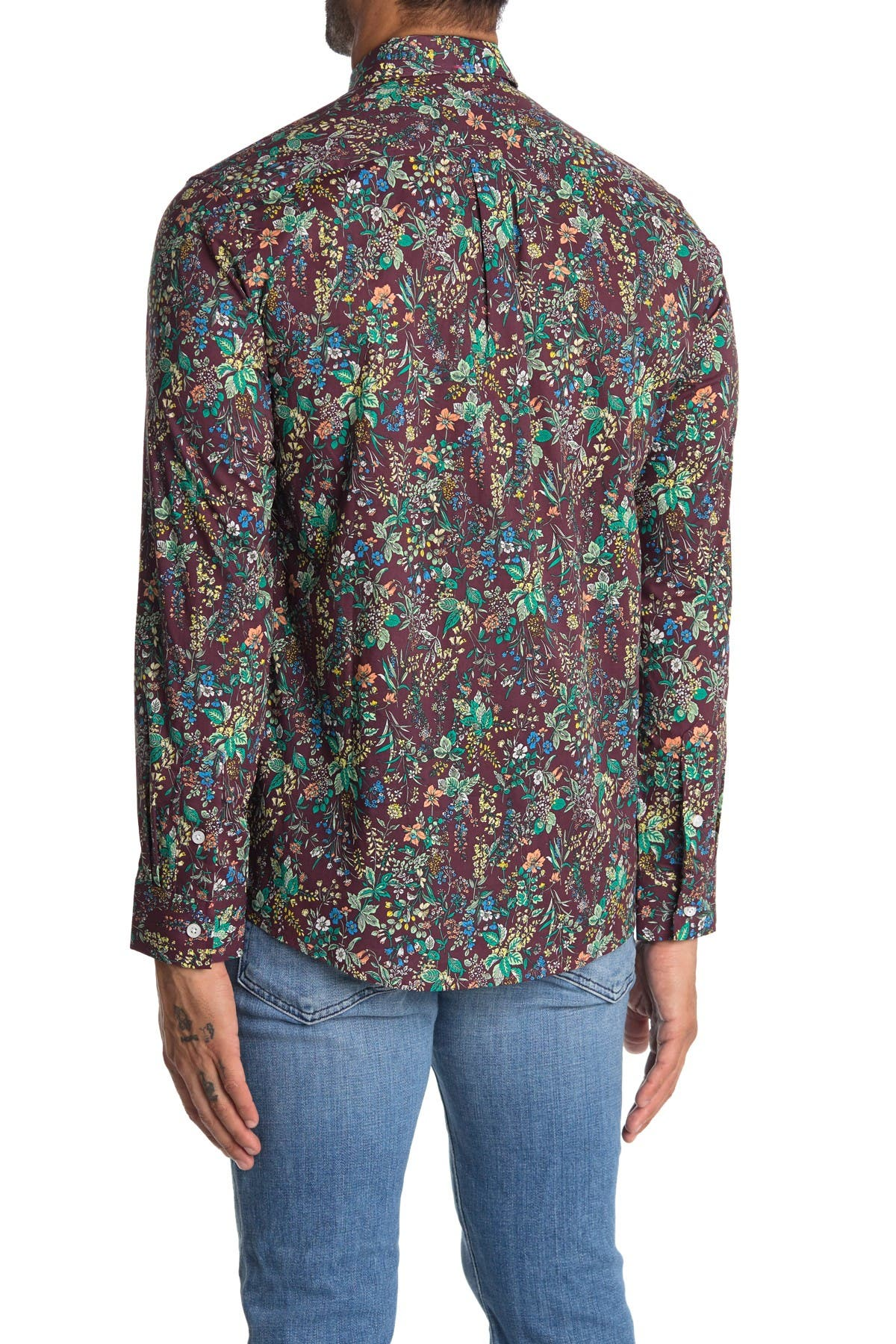Image of IMPATIENT WOLVES Double Up Floral Long Sleeve Button Down Shirt