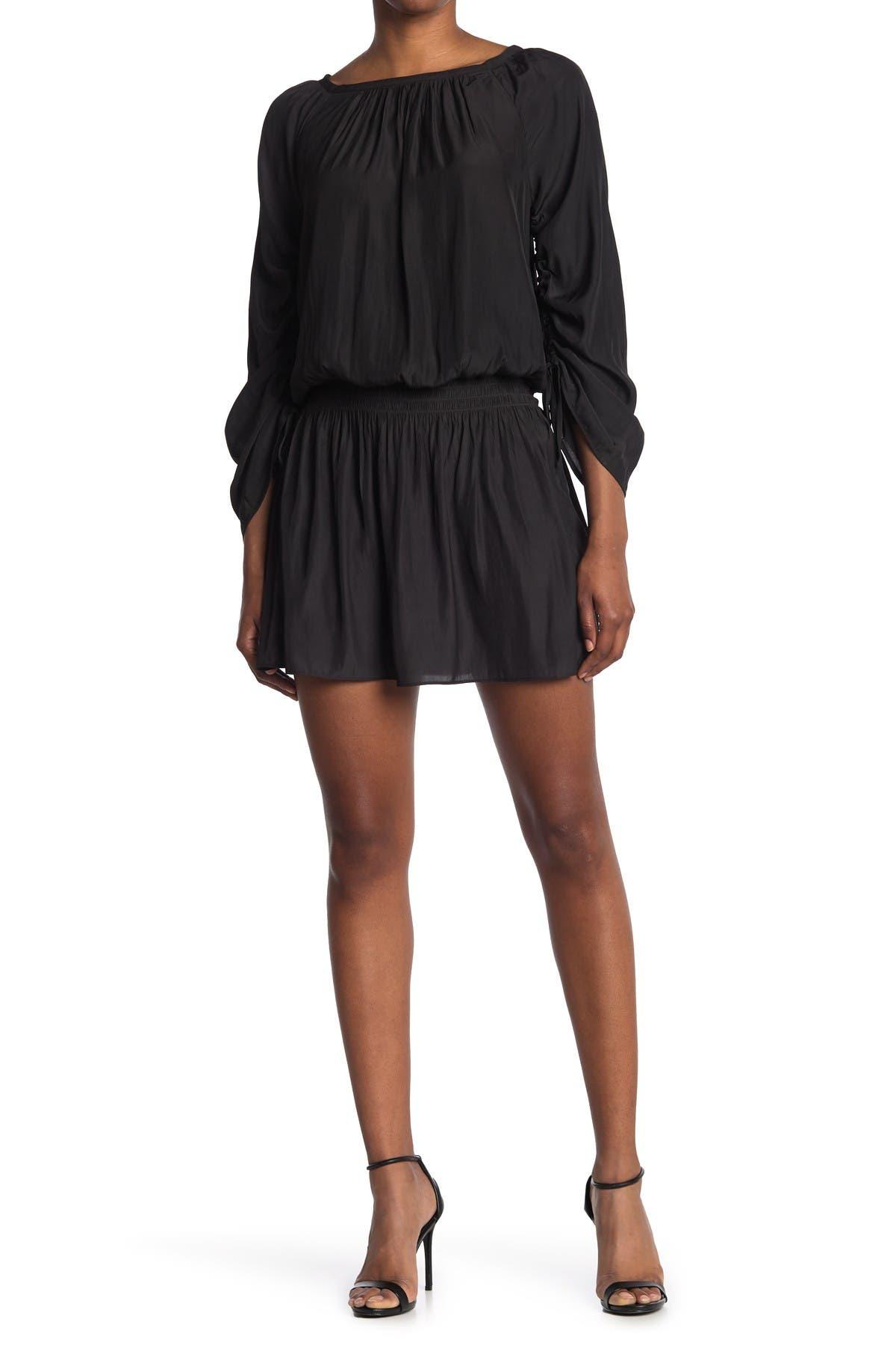 Image of Ramy Brook Jo Smocked Cinch Quarter Sleeve Dress