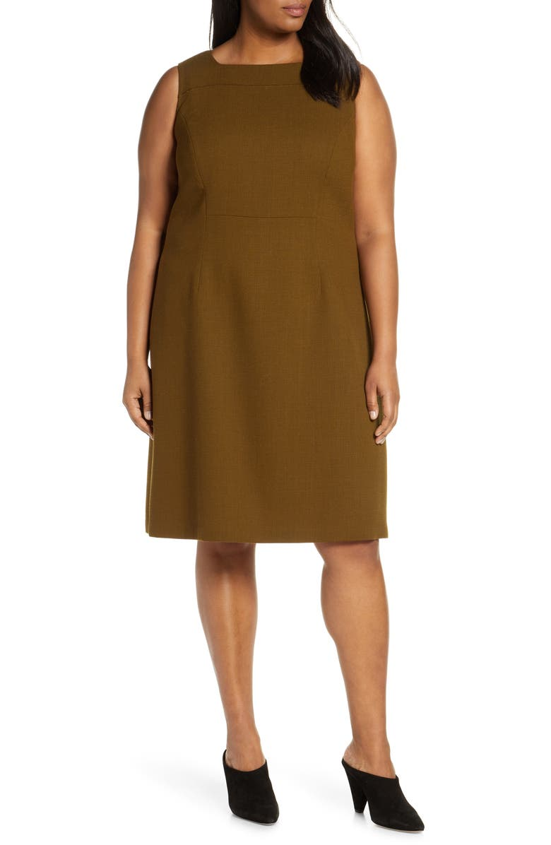 LAFAYETTE 148 NEW YORK Jojo Wool Dress, Main, color, 200