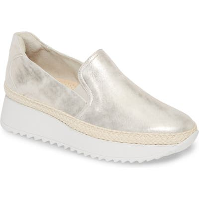 Paul Green Candice Slip-On Platform Sneaker, US / 6.5UK - Metallic