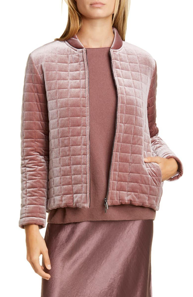 MAX MARA LEISURE Addurre Quilted Jacket, Main, color, ANTIQUE ROSE