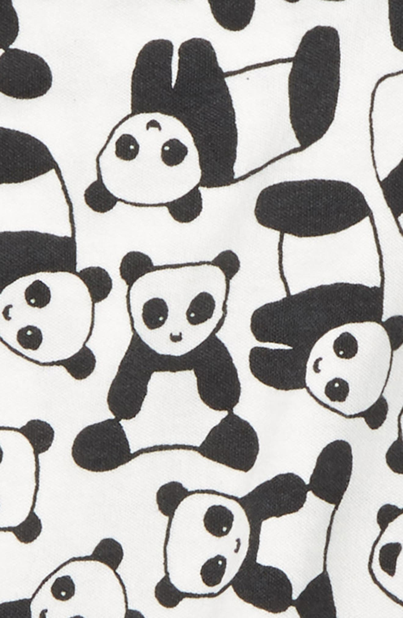 ,                             Panda Faux Wrap Romper,                             Alternate thumbnail 2, color,                             PANDA PUPS
