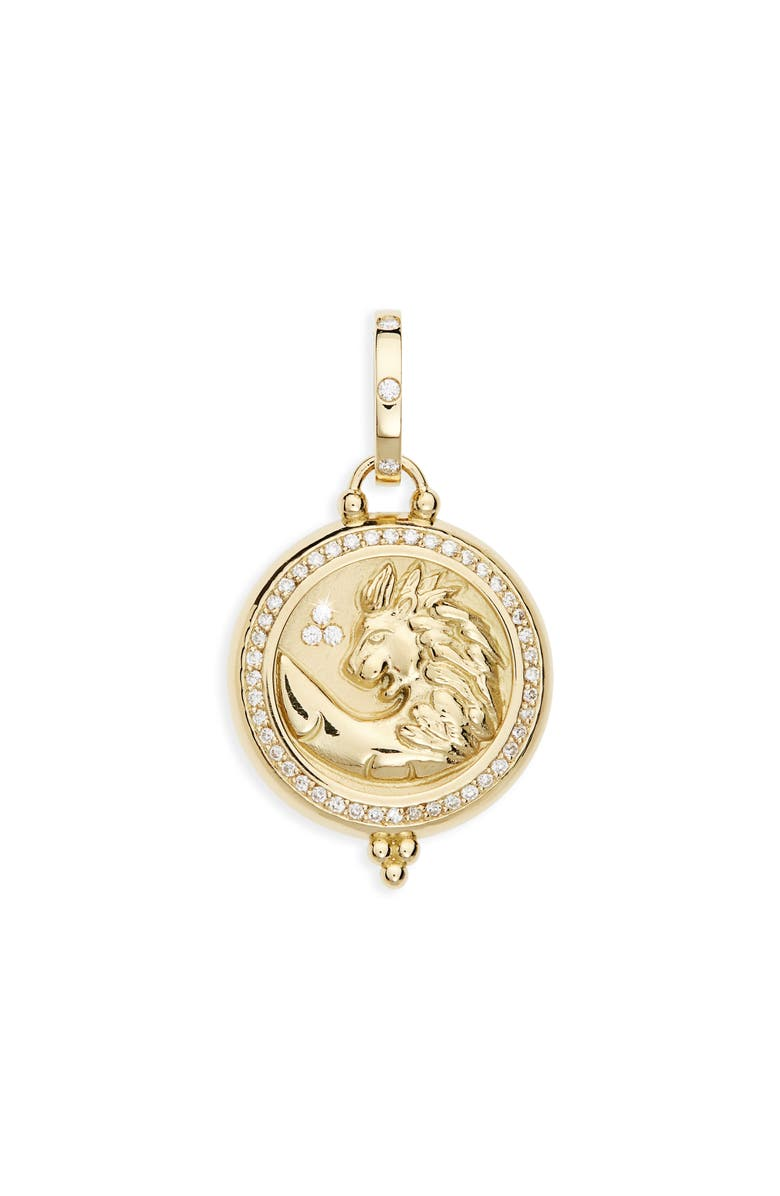 TEMPLE ST CLAIR Temple St. Clair Charms Pendant, Main, color, YELLOW GOLD