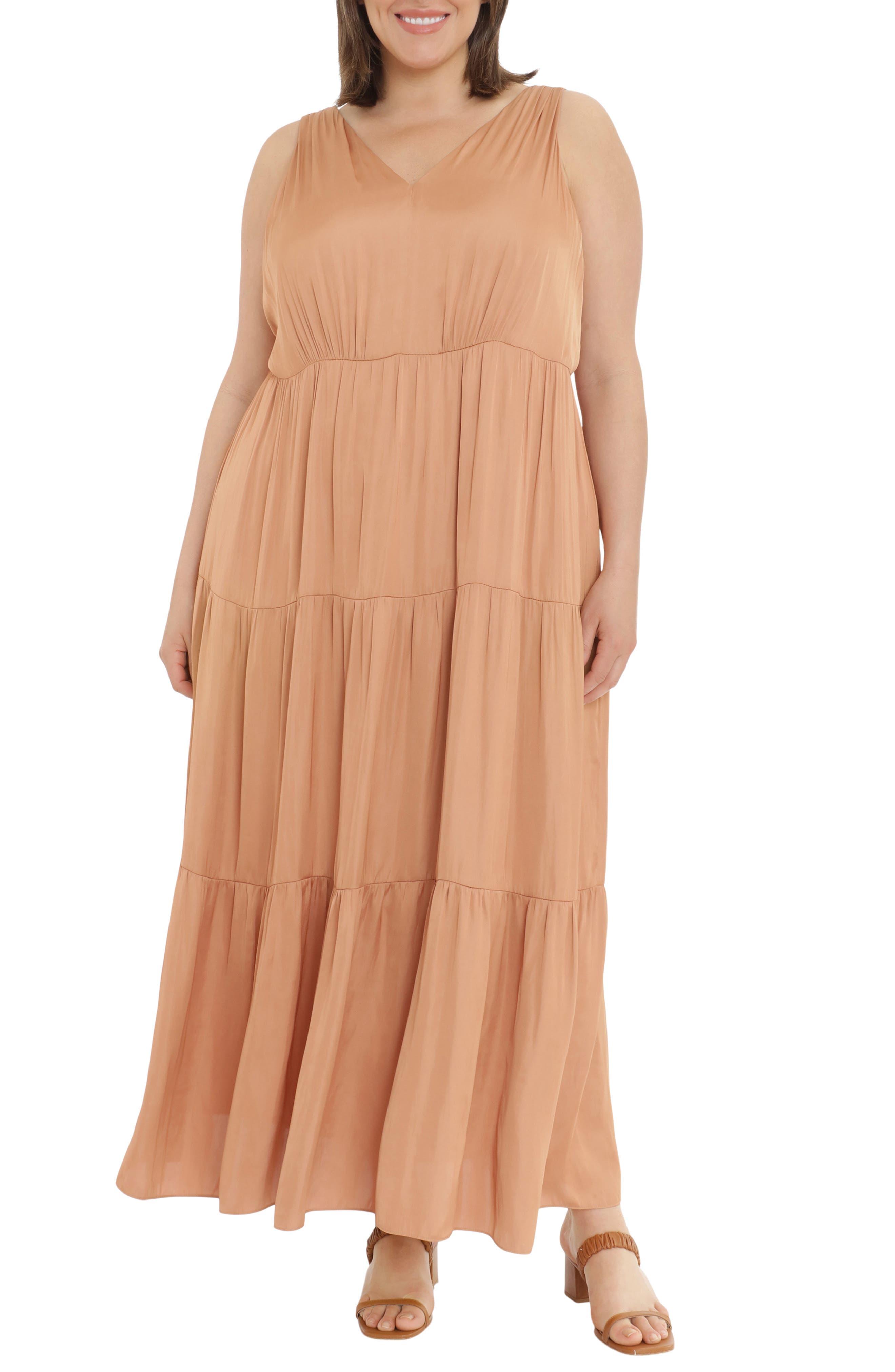 Empire Waist Tiered Maxi Dress