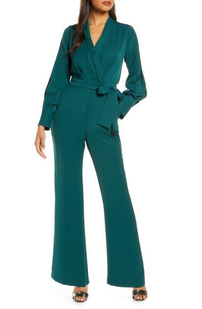 Adelyn Rae Suits CHARIS FAUX WRAP JUMPSUIT