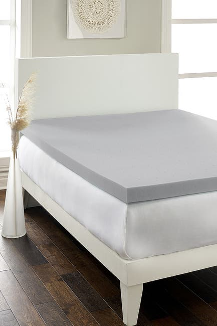 """Image of Rio Home Hotel Laundry(R) Hypoallergenic Charcoal 2.5"""" Memory Foam Twin XL Mattress Topper"""