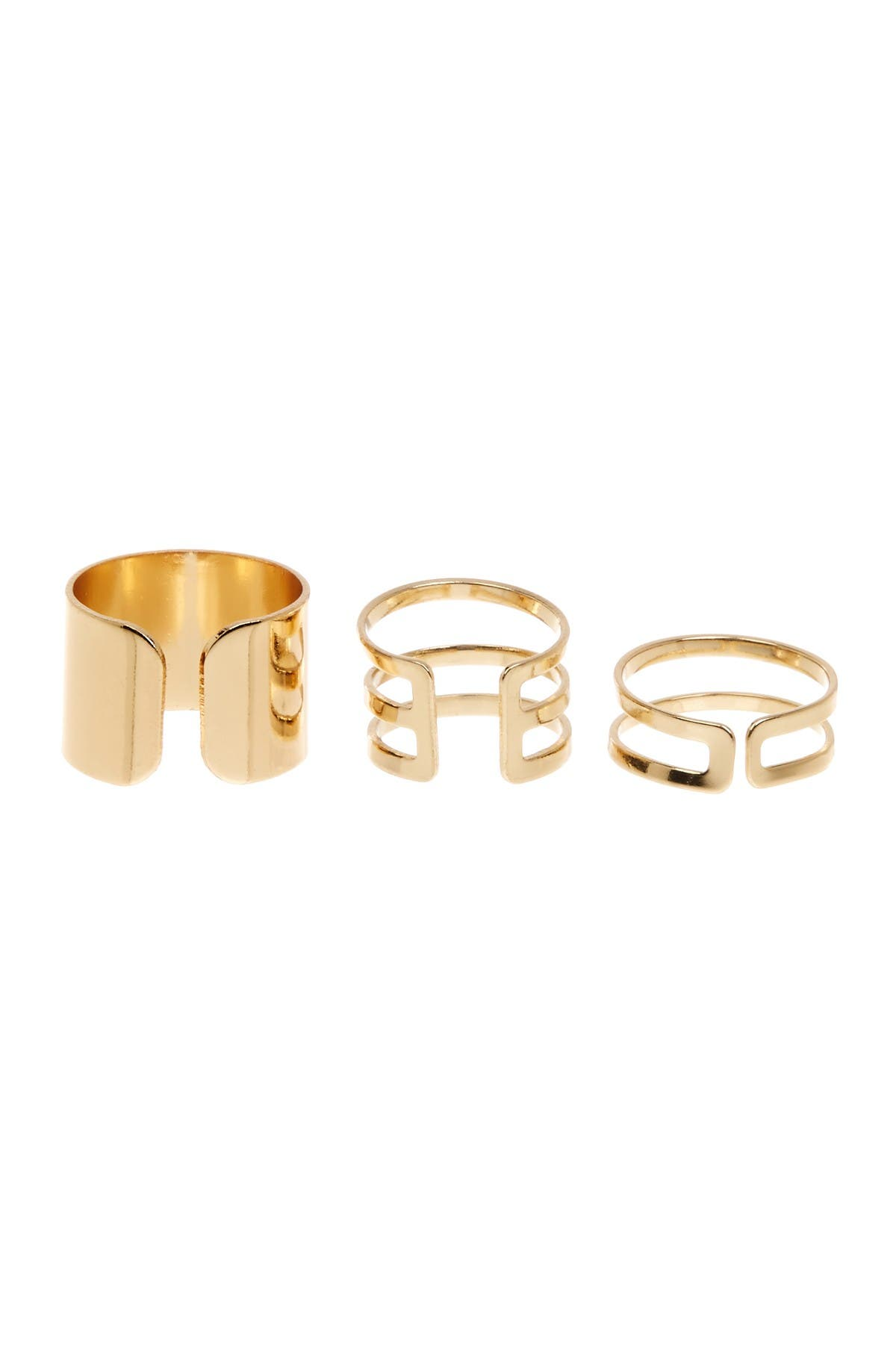 Image of Sterling Forever Stackable Midi Ring 3-Piece Set