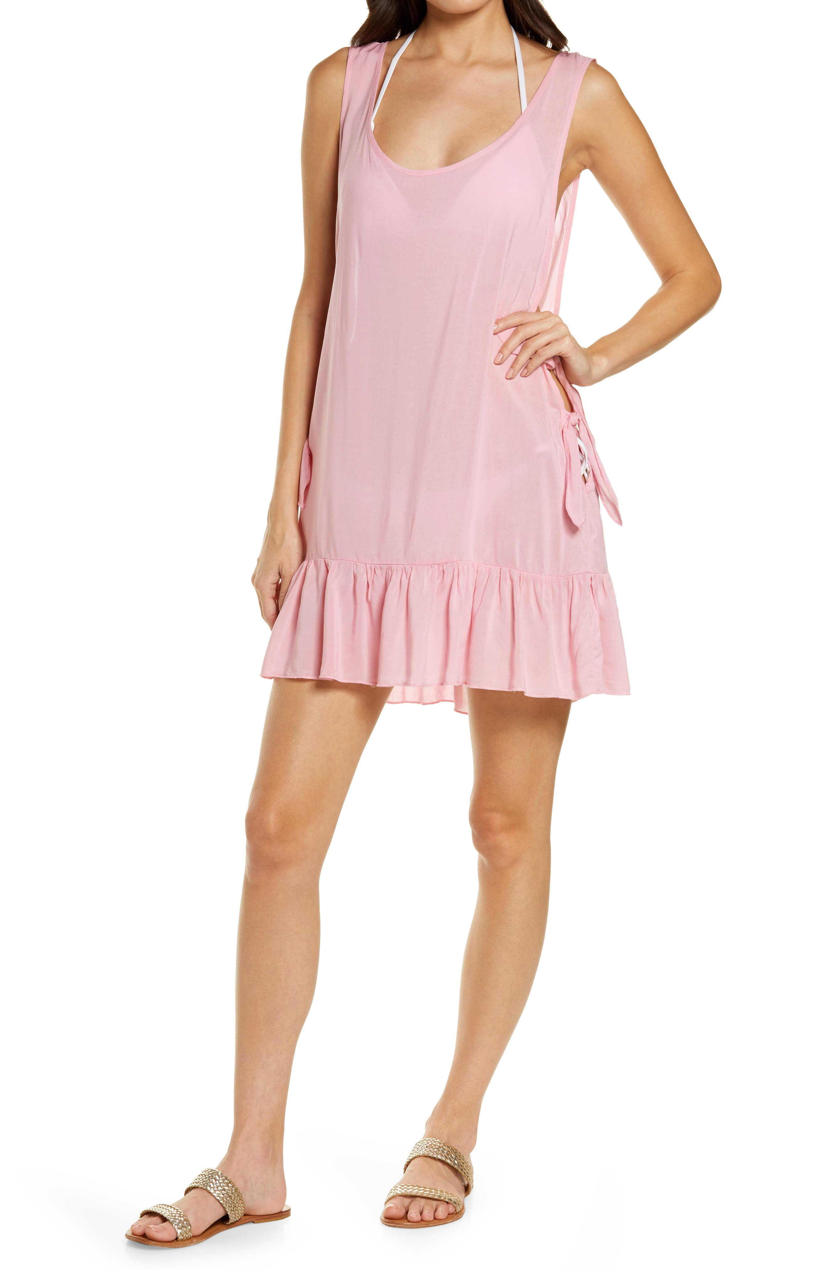 Tayla Side Tie Cover-Up Minidress