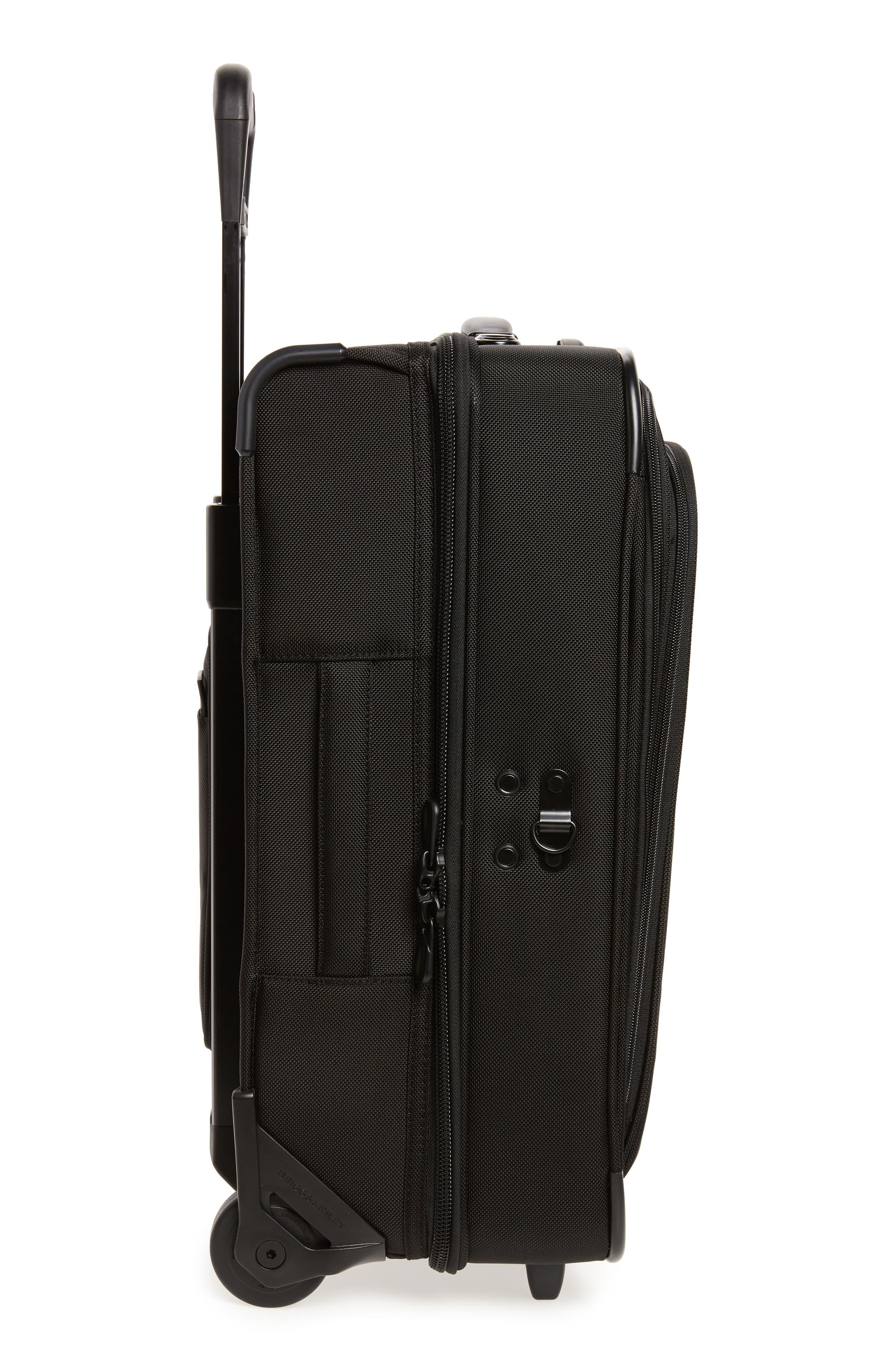 ,                             'Baseline - Domestic' Rolling Carry-On Garment Bag,                             Alternate thumbnail 3, color,                             BLACK