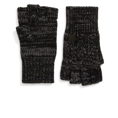 Frye Marled Cable Fingerless Gloves, Size One Size - Black