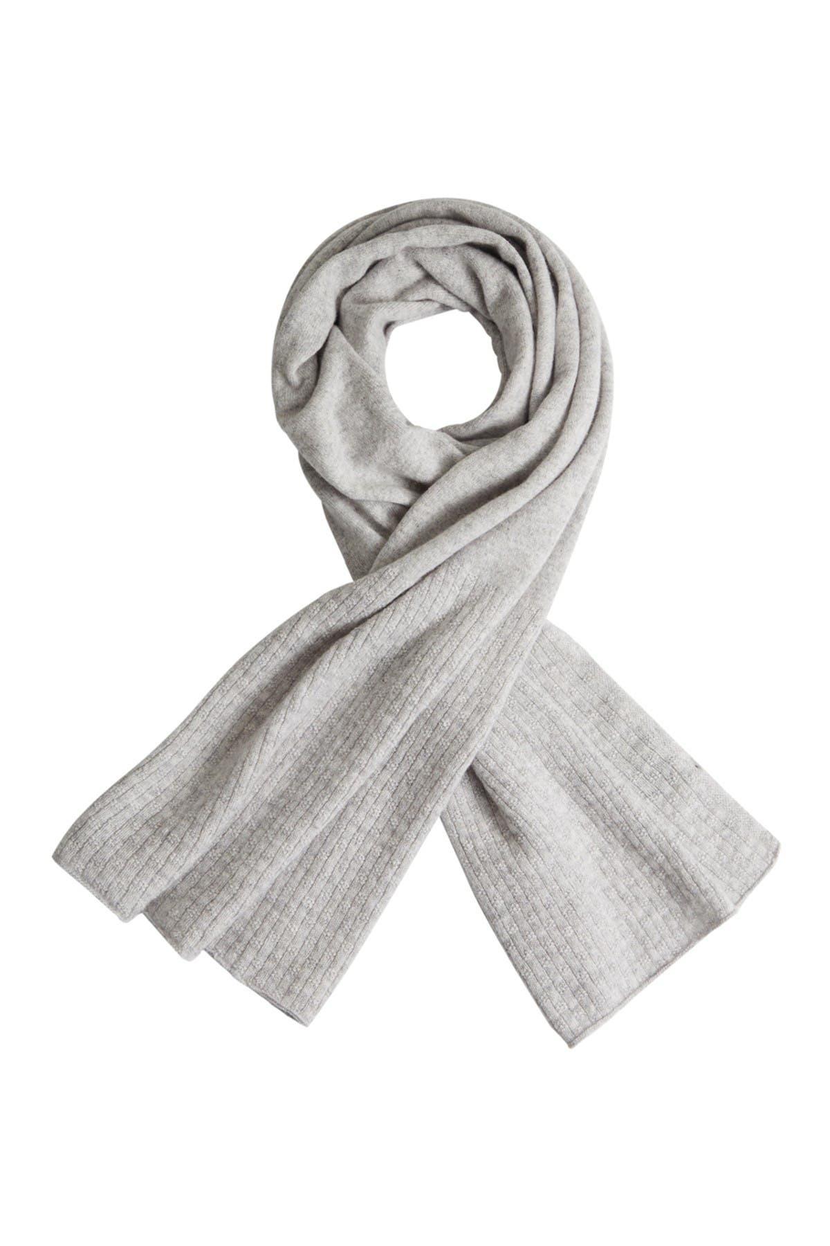 Image of Helen Kaminski Tracy Solid Cashmere Fine Knit Scarf
