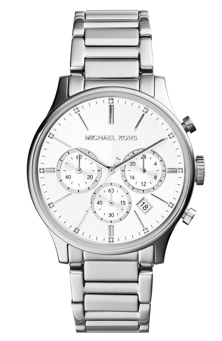 MICHAEL MICHAEL KORS Michael Kors 'Bailey' Chronograph Bracelet Watch, 39mm, Main, color, 040