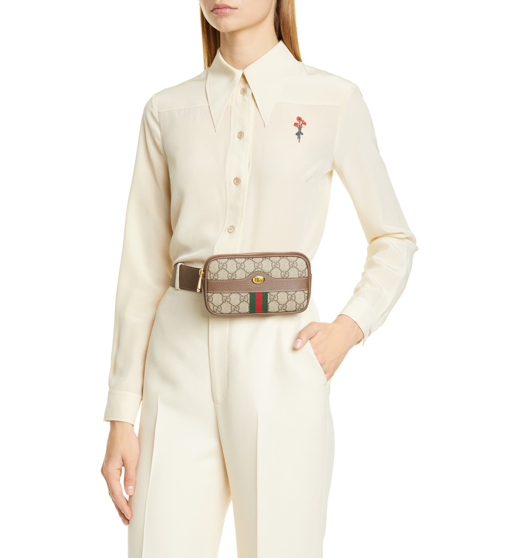 82dfb716a Gucci Ophidia GG Supreme Small Canvas Belt Bag | Nordstrom