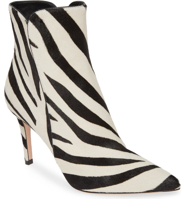 GIANVITO ROSSI Genuine Calf Hair Bootie, Main, color, ZEBRA PRINT