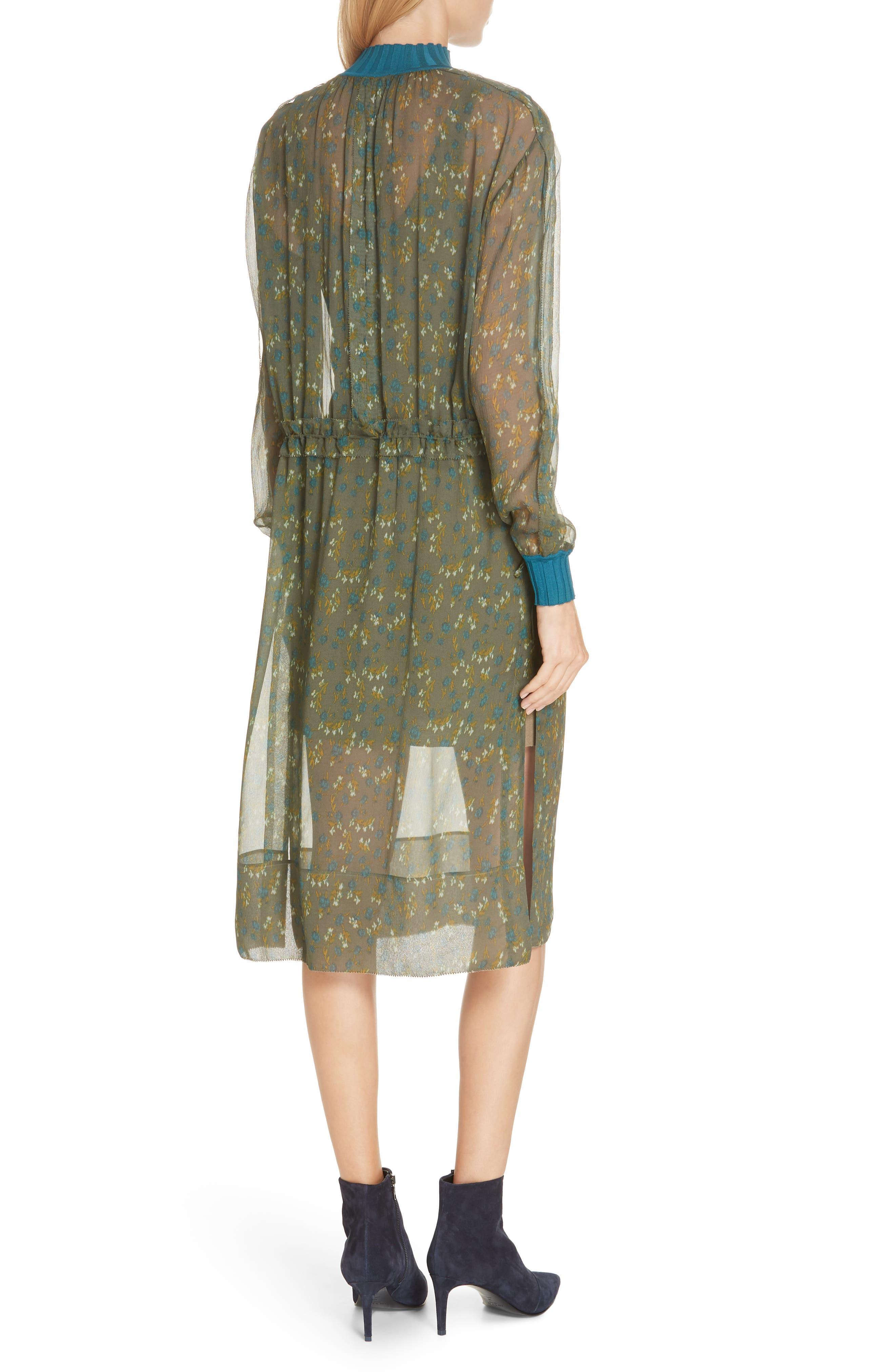 ,                             Dinah Silk Dress,                             Alternate thumbnail 9, color,                             346