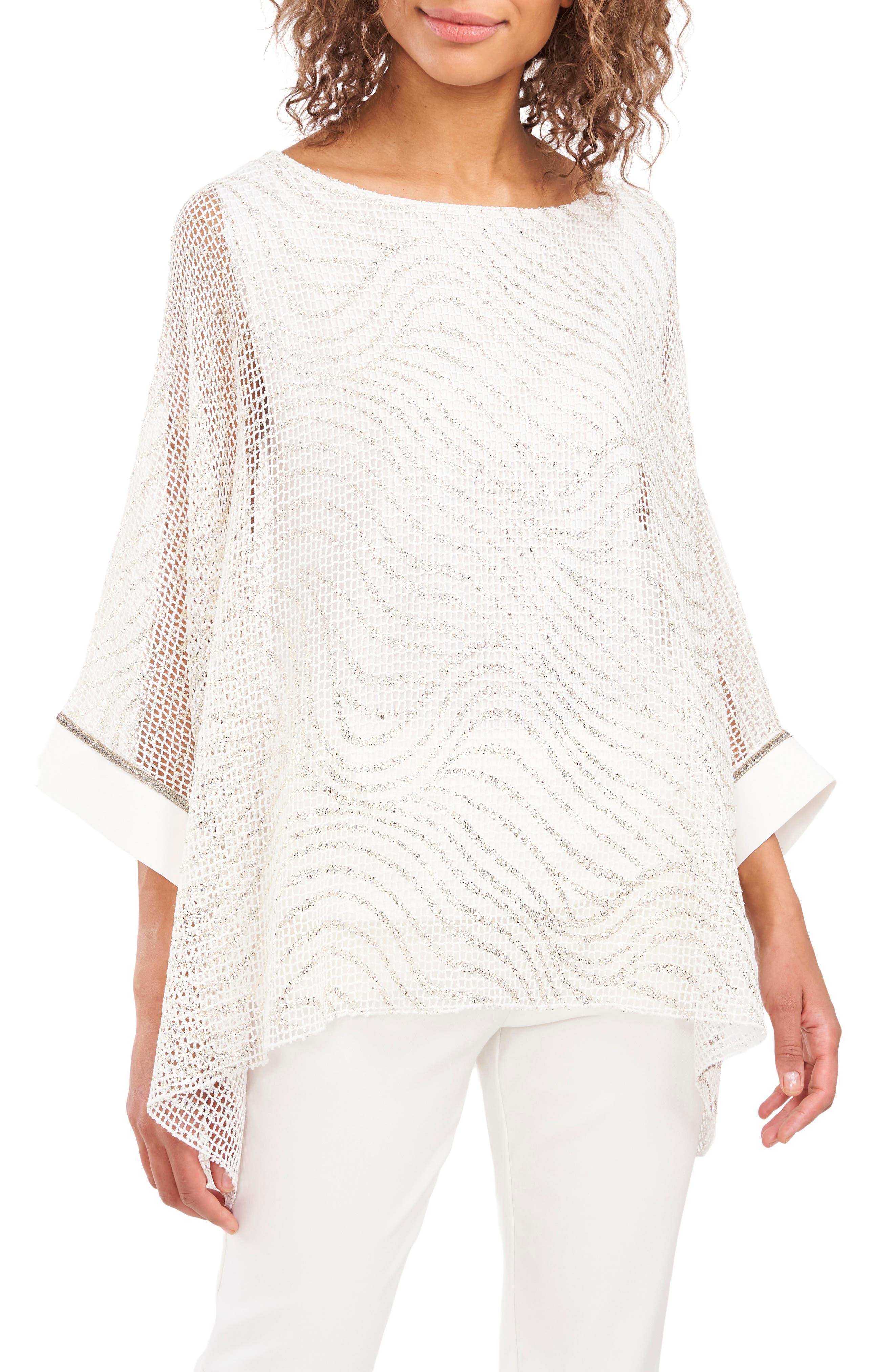 Metallic Knit Tunic Top