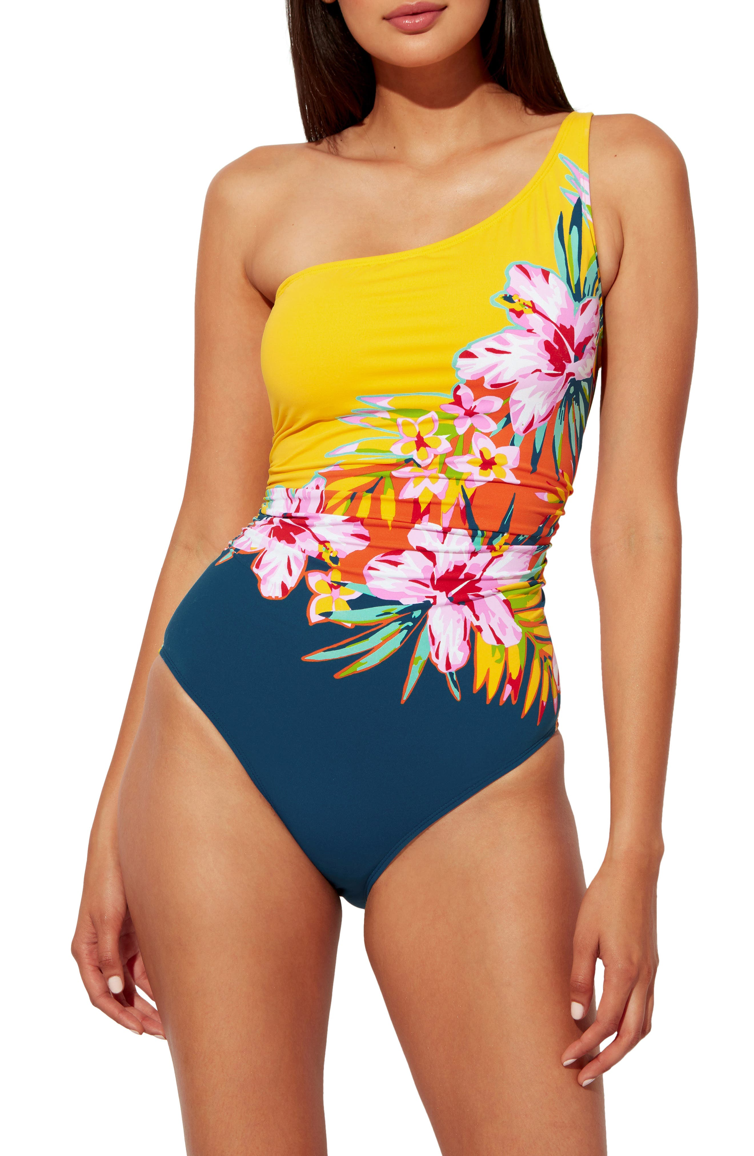 Beachy Keen One-Shoulder One-Piece Swimsuit