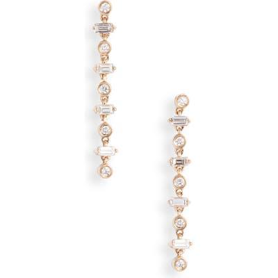 Dana Rebecca Designs Sadie Linear Diamond Earrings