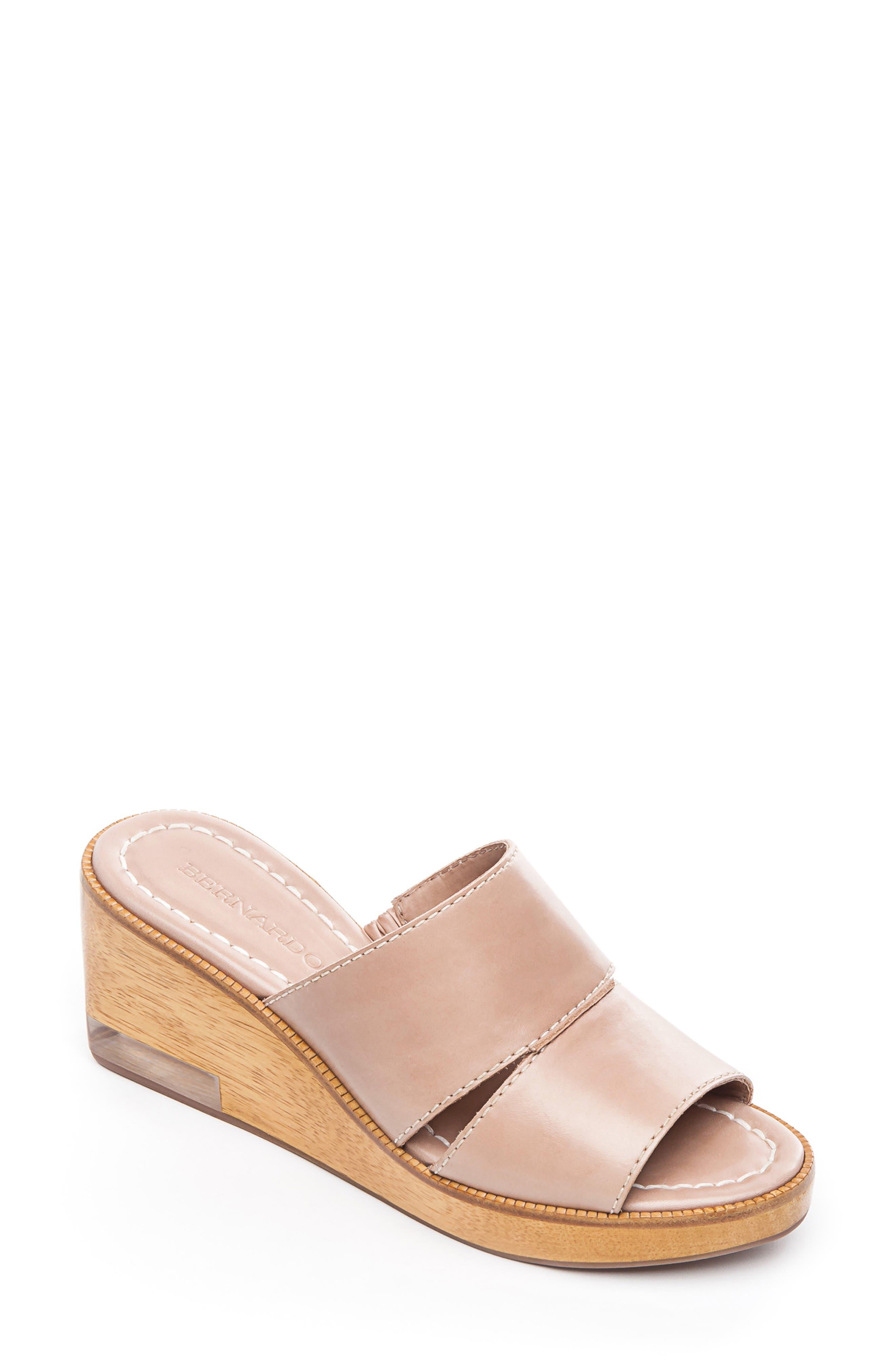 Bernardo Kara Wedge Sandal, Pink