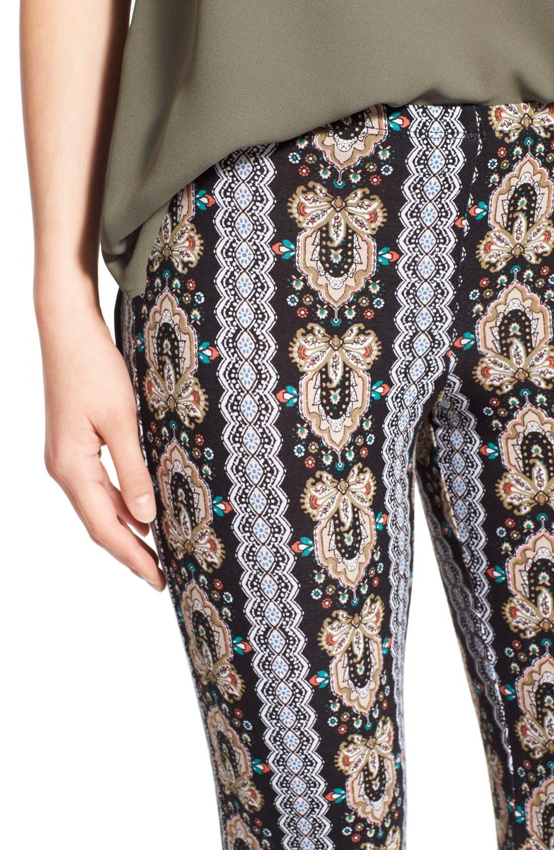 ,                             Mixed Print Flare Leg Pants,                             Alternate thumbnail 38, color,                             013