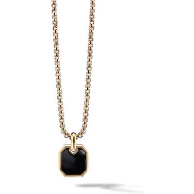 David Yurman Roman 18K Gold Amulet Enhancer With Black Onyx