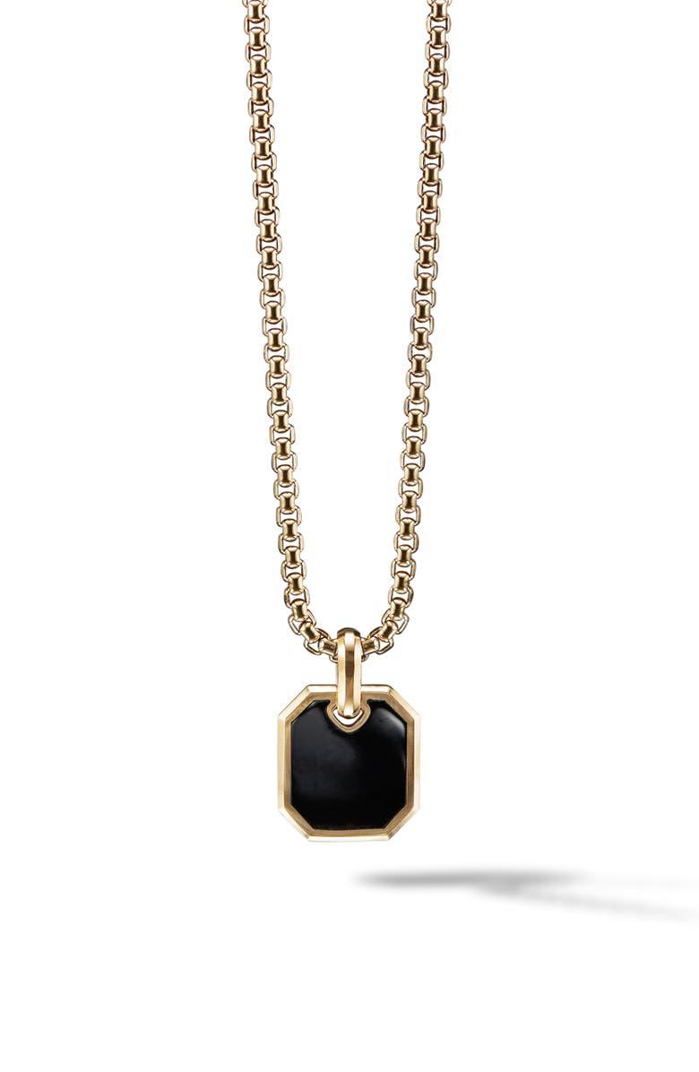 DAVID YURMAN Roman 18K Gold Amulet Enhancer with Black Onyx, Main, color, BLACK ONYX