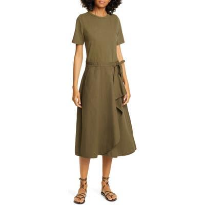 Sea Scout Ruffle Midi Dress, Green