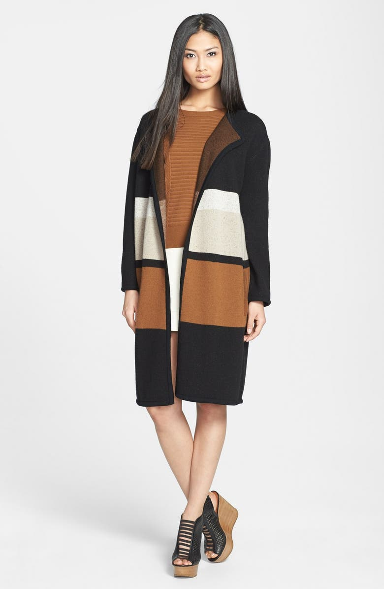 MARC BY MARC JACOBS 'Talula' Merino Wool Sweater Coat, Main, color, 002