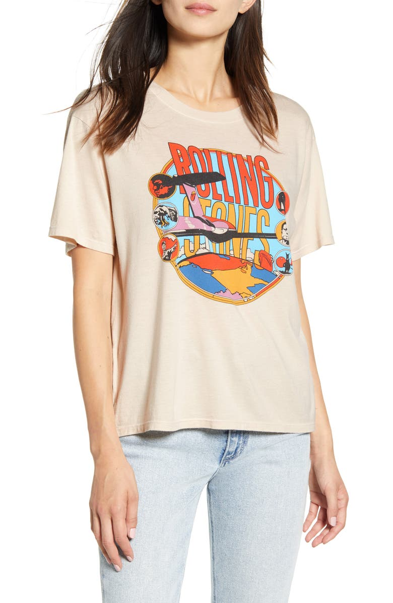 DAYDREAMER Rolling Stones American Tour Tee, Main, color, SAND