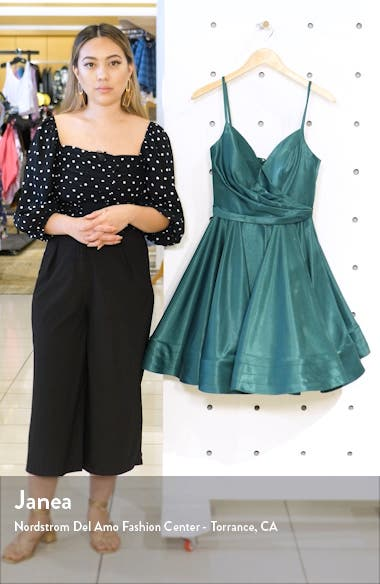 Satin Fit & Flare Party Dress, sales video thumbnail