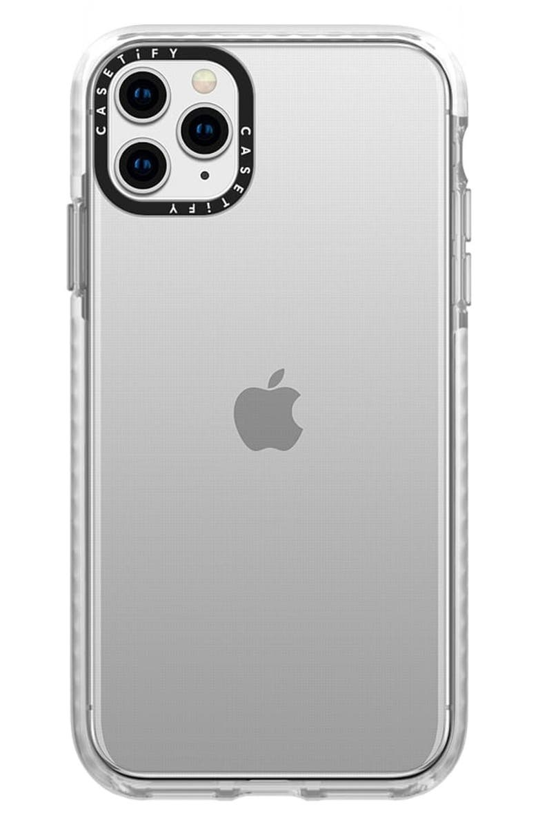 CASETIFY Clear iPhone 11 Pro Max Case, Main, color, FROST