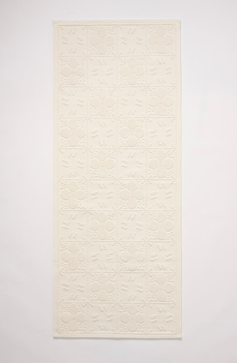 ANTHROPOLOGIE HOME Tile Runner Bath Mat, Main, color, WHITE