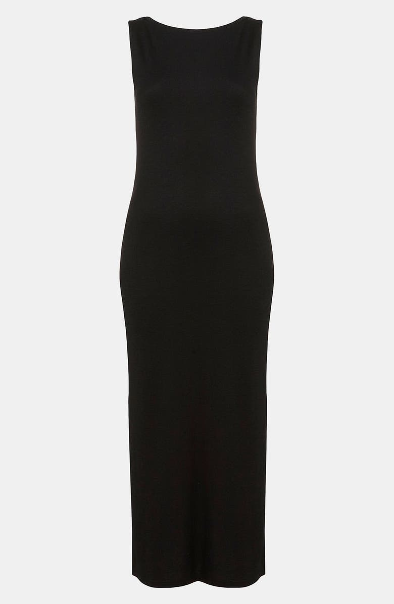 TOPSHOP Midi Tank Dress, Main, color, 001