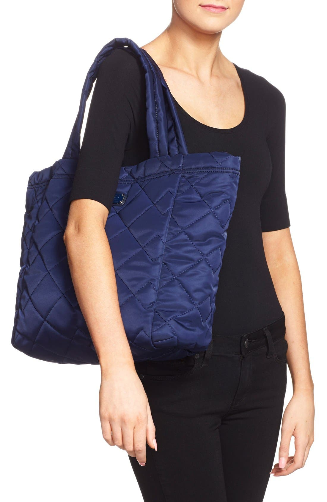 ,                             MARC BY MARC JACOBS 'Crosby' Quilted Nylon Tote,                             Alternate thumbnail 8, color,                             401