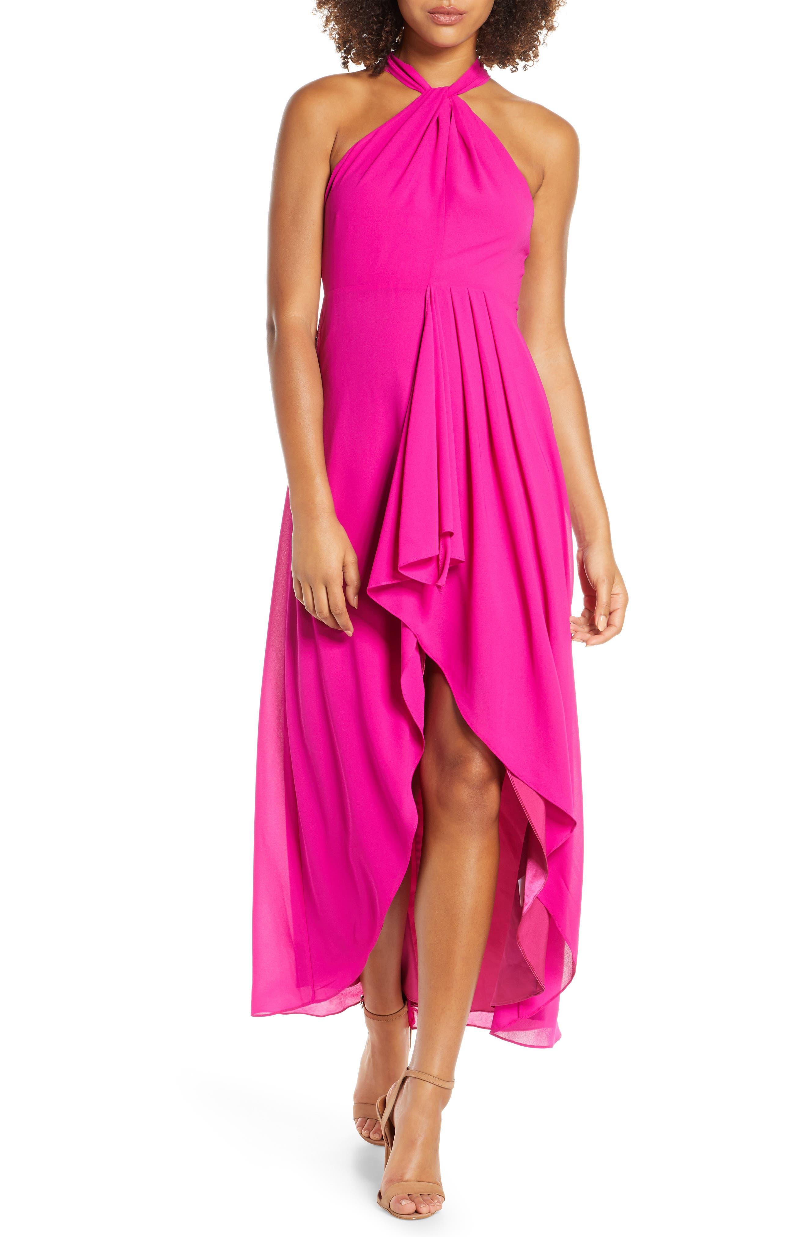 Mark + James By Badgley Mischka High/low Halter Dress, Pink