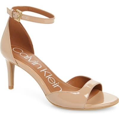 Calvin Klein Luellen Ankle Strap Sandal- Beige