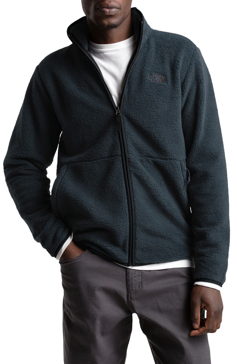 THE NORTH FACE Dunraven Faux Fur Jacket, Main, color, URBAN NAVY/ TNF BLACK