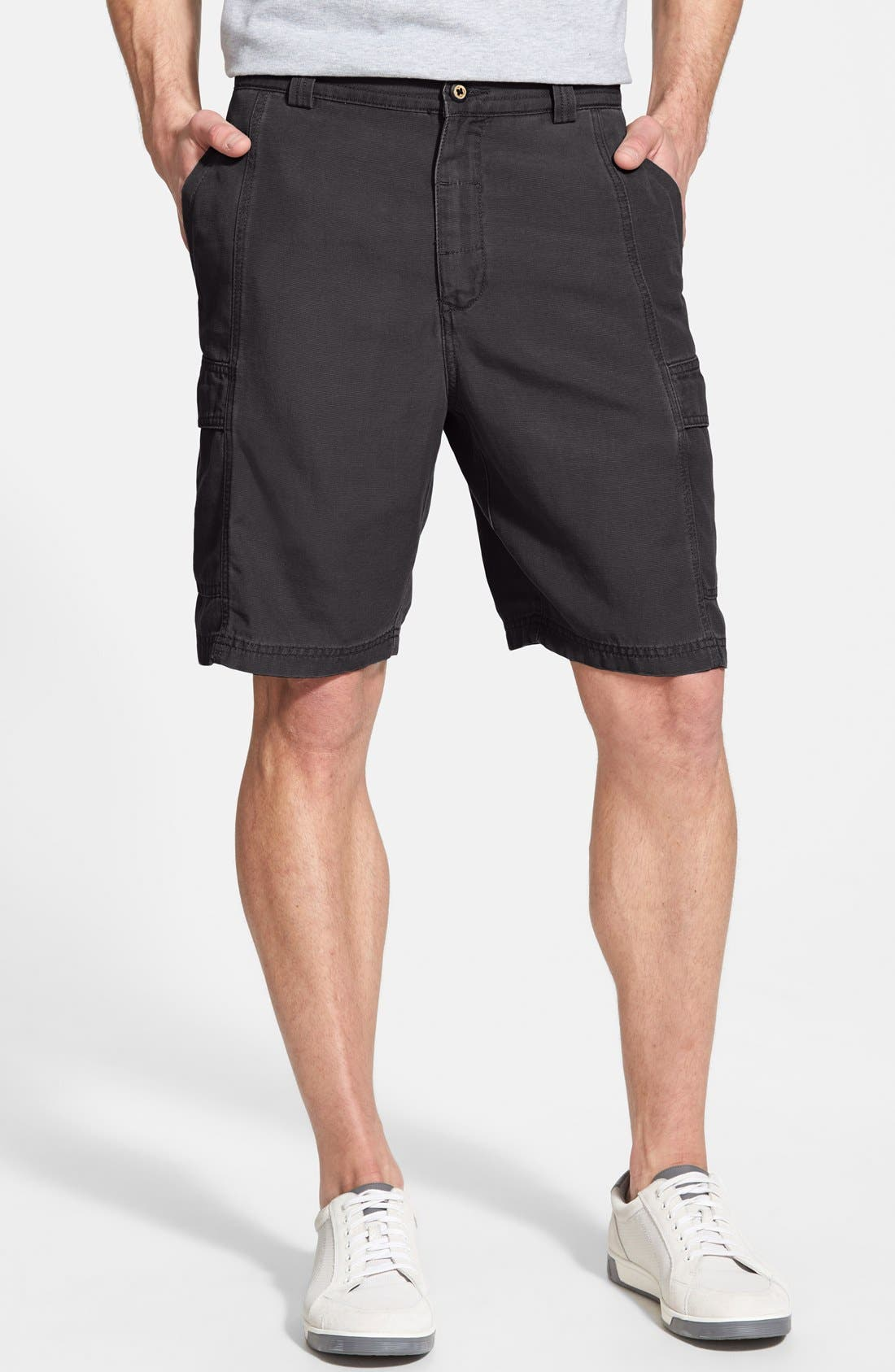 'Key Grip' Relaxed Fit Cargo Shorts, Main, color, 003