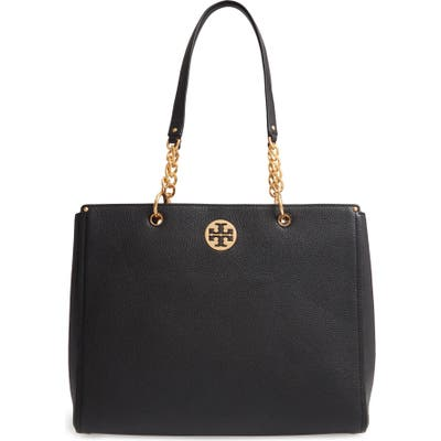 Tory Burch Everly Leather Tote - Black