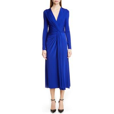 Jason Wu Collection Twist Long Sleeve Jersey Dress, Blue