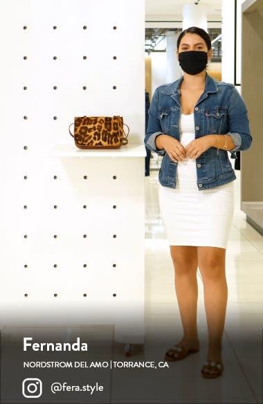 Simple Leopard Print Genuine Calf Hair Crossbody Bag, sales video thumbnail