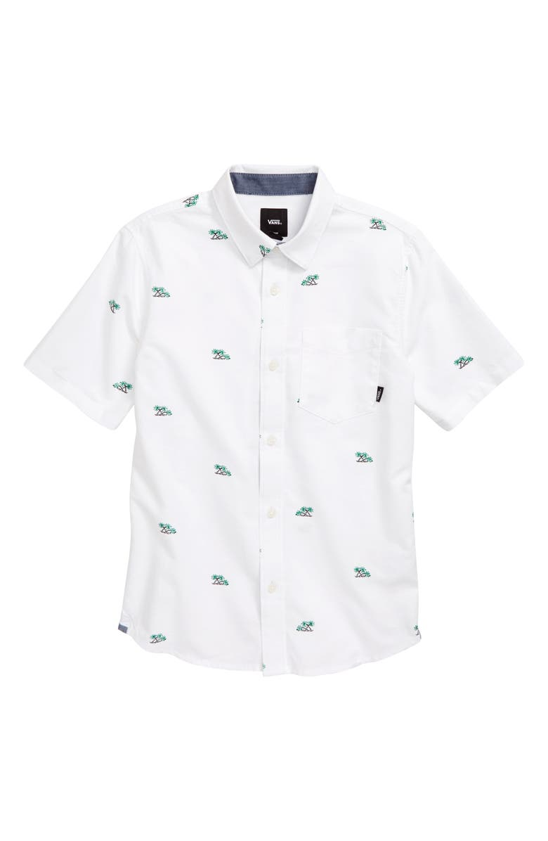 VANS Houser Woven Shirt, Main, color, PALM DITSY