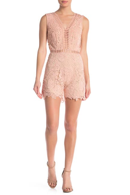 Image of Love by Design Sleeveless Lace Romper