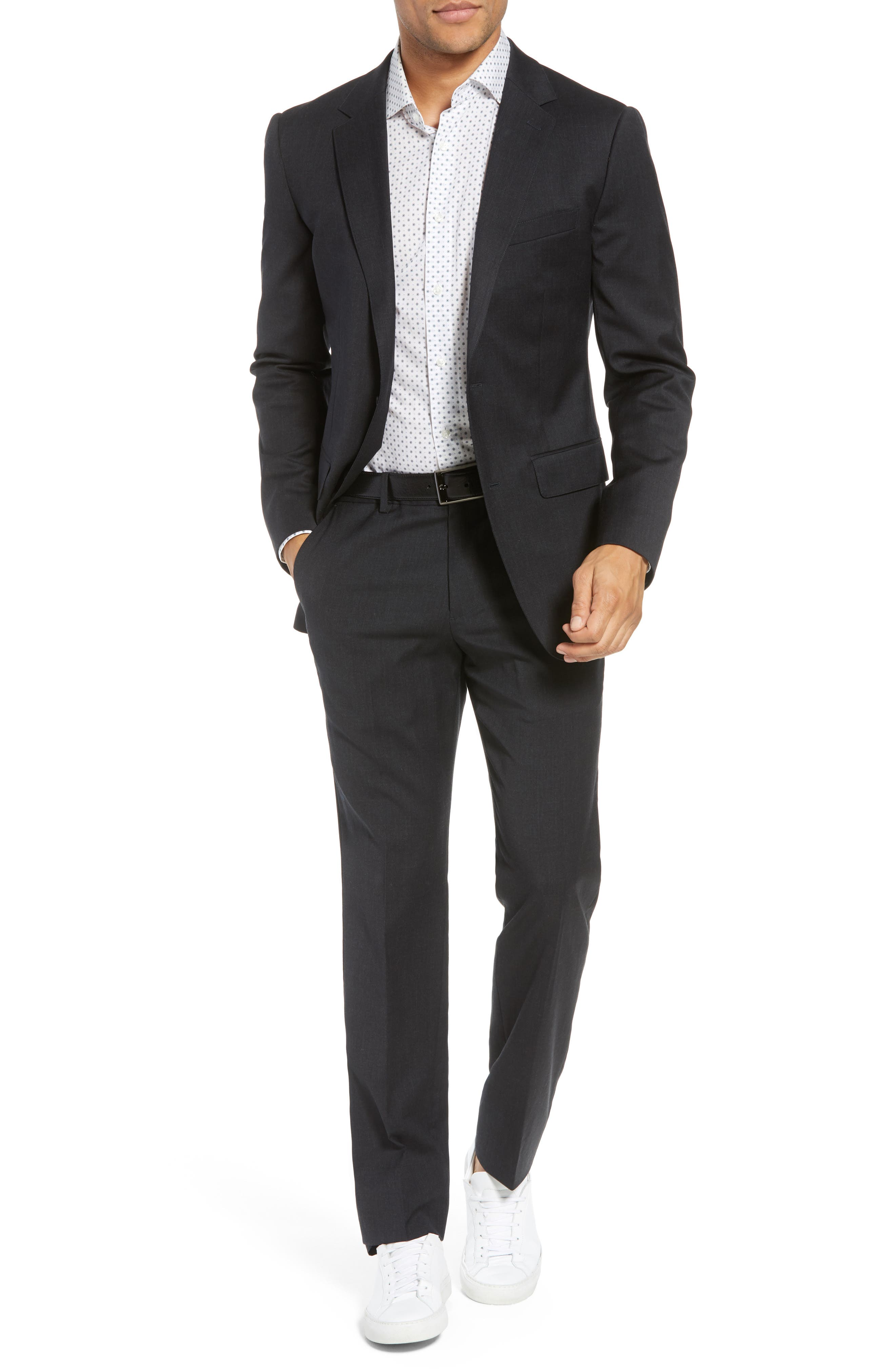 ,                             Jetsetter Slim Fit Flat Front Stretch Wool Trousers,                             Alternate thumbnail 19, color,                             021
