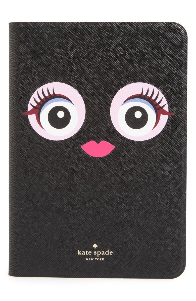 KATE SPADE NEW YORK monster eyes iPad Mini Air 4 case, Main, color, BLACK MULTI