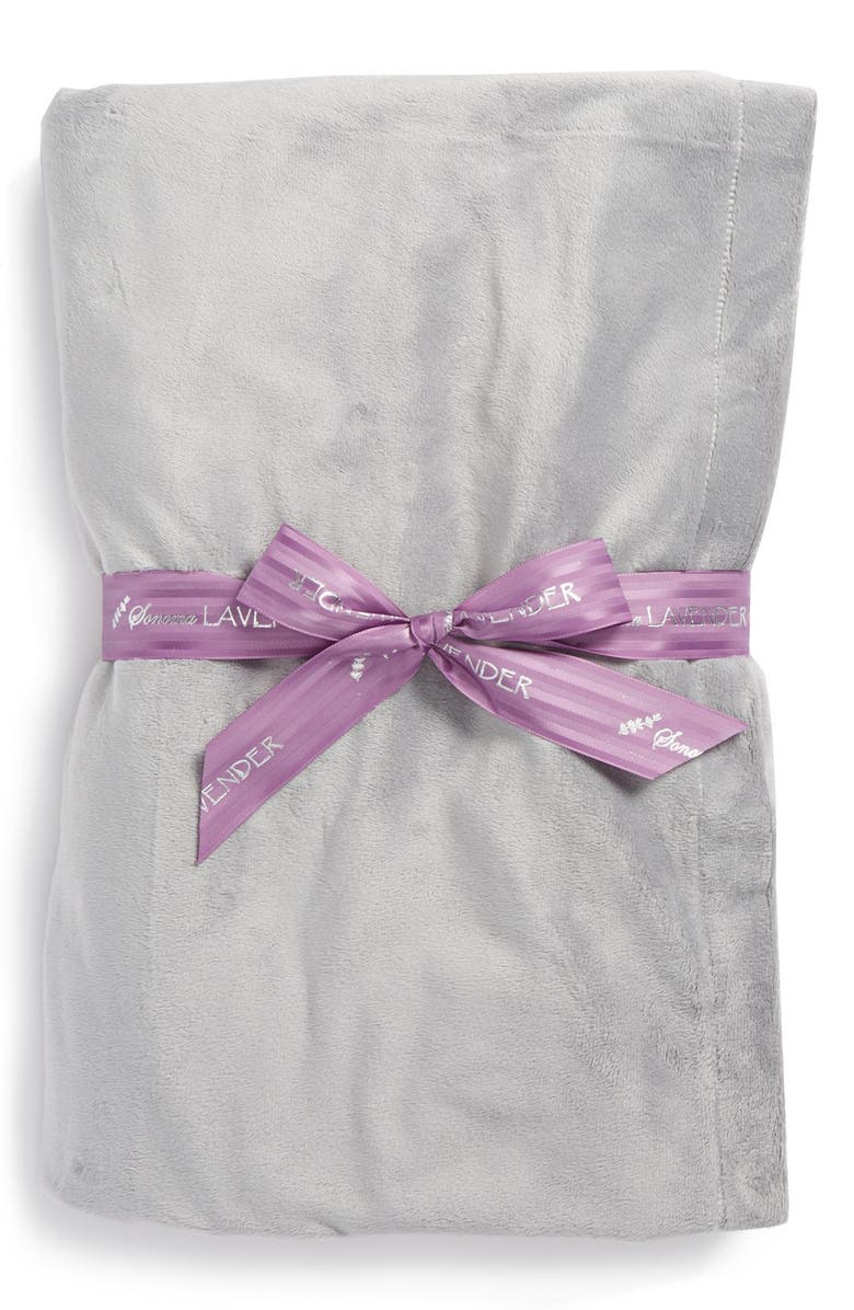 SONOMA LAVENDER Solid Silver Blankie, Main, color, NO COLOR
