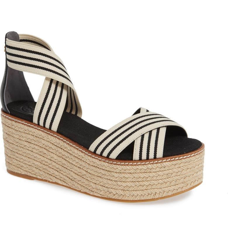 TORY BURCH Frieda Espadrille Platform Sandal, Main, color, 002